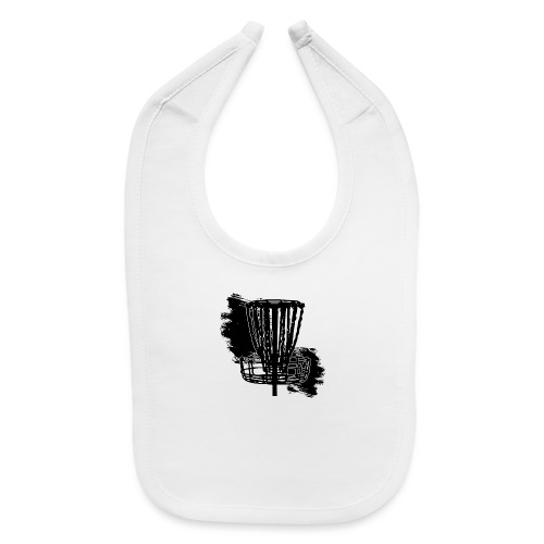 Disc Golf Basket Paint Black Print - Baby Bib