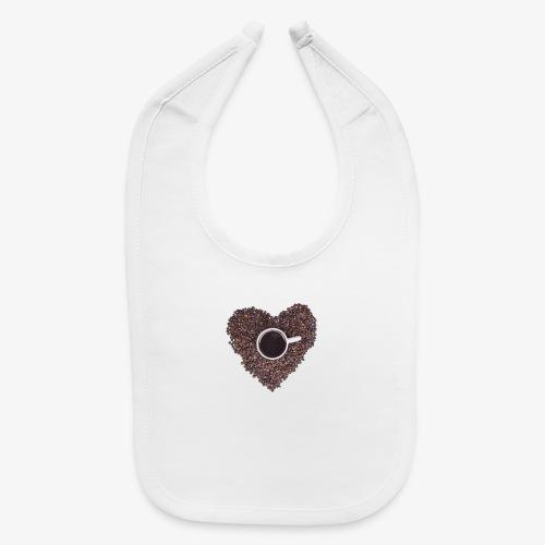 I Heart Coffee Black/White Mug - Baby Bib