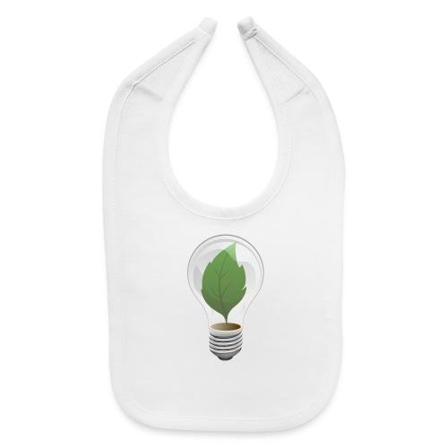 Clean Energy Green Leaf Illustration - Baby Bib