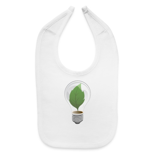 Clean Energy Green Leaf Illustration - Baby Bib