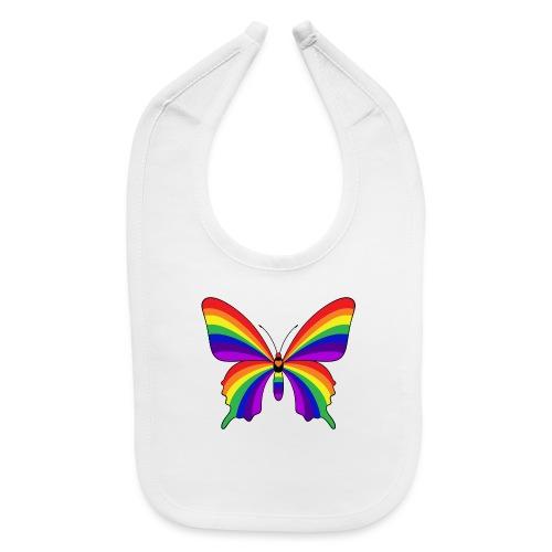 Rainbow Butterfly - Baby Bib