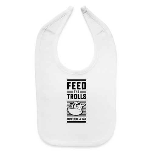 Feed the Trolls Baby One-Piece Snapsuit - Baby Bib