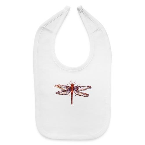 Dragonfly red - Baby Bib