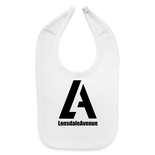 Lonsdale Avenue Logo Black Text - Baby Bib