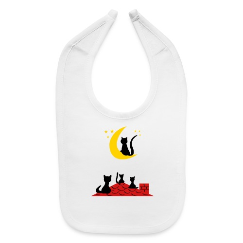 Cats on the roof - Baby Bib
