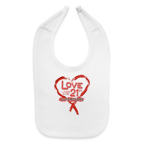 Down Syndrome Love (Red) - Baby Bib