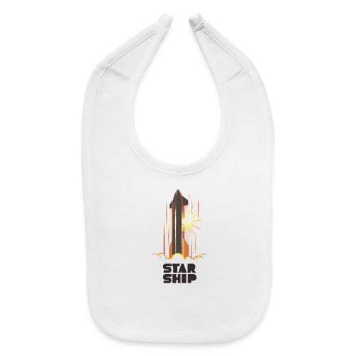 Star Ship Mars - Light - Baby Bib