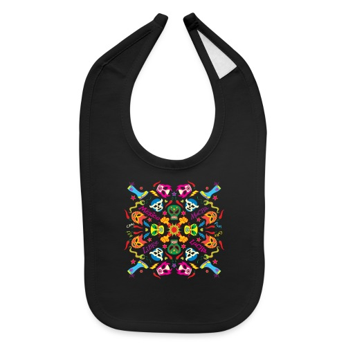 Cool Mexican wrestlers ready to fight and have fun - Baby Bib