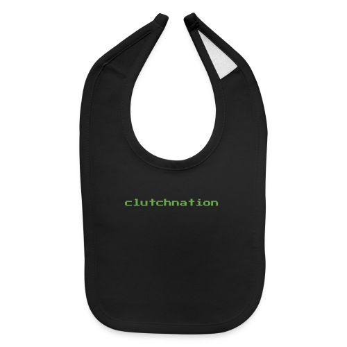 clutchnation green merch videogame - Baby Bib