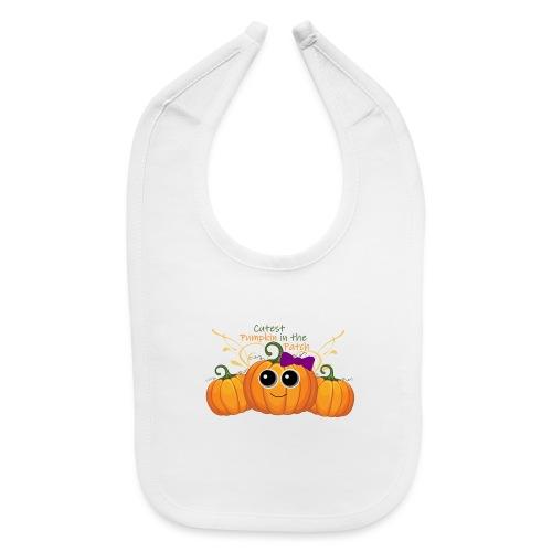 cutest pumpkin - Baby Bib