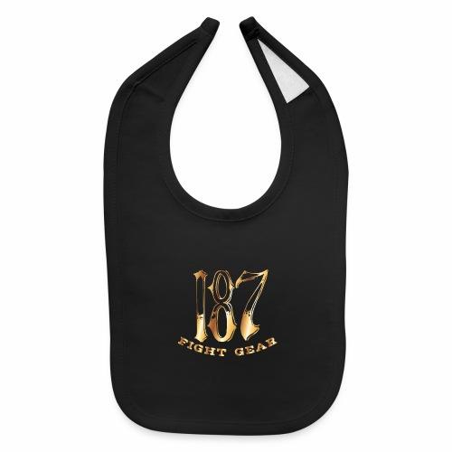 187 Fight Gear Gold Logo Street Wear - Baby Bib