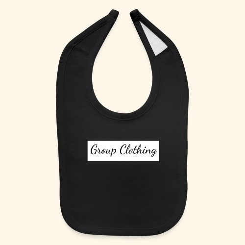 Cursive Black and White Hoodie - Baby Bib