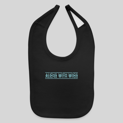 AliensWithWigs-Logo-Bleu - Baby Bib