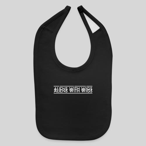 AliensWithWigs-Logo-Blanc - Baby Bib