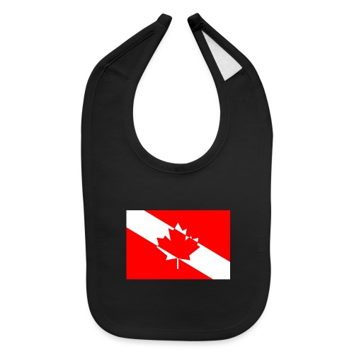 Canadian Diver Flag in Red & White - Baby Bib