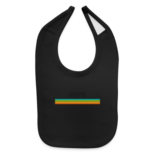 striped mug black logo png - Baby Bib