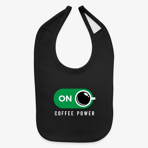 Coffe Power On - Baby Bib