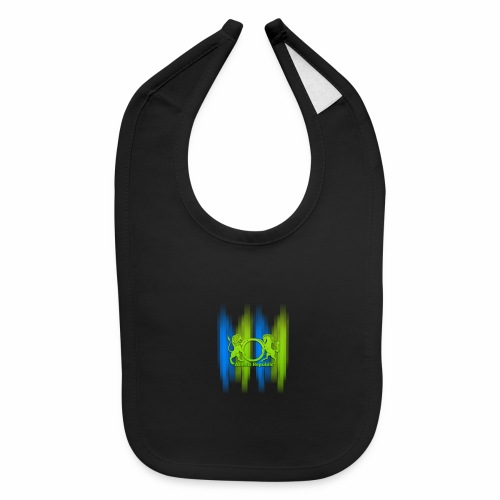 Atheist Republic Logo - Blue & Green Stripes - Baby Bib
