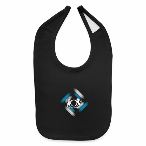 Atheist Republic Logo - Blue & White Stripes - Baby Bib