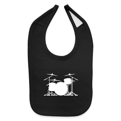 Drum set silhouette illustration - Baby Bib