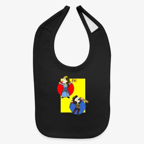Cartoon - Pontios/lyra & Pontia/flag - Baby Bib