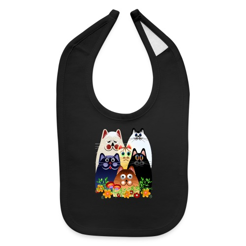 GARDEN CLOWDER of CATS - Baby Bib