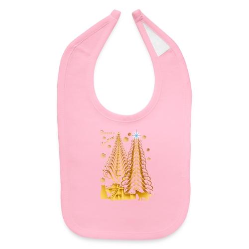 Golden Presents-Gold Kitties - Baby Bib