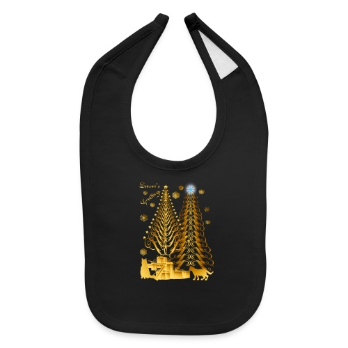 Golden Presents-Gold Kitties - Baby Bib