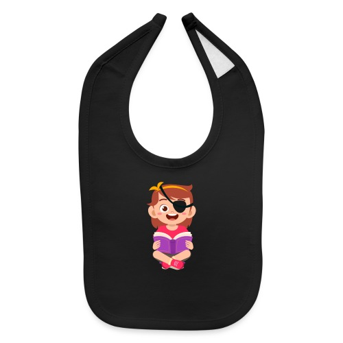 Little girl with eye patch - Baby Bib