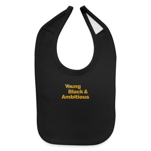 YBA Black and Gold Shirt2 - Baby Bib