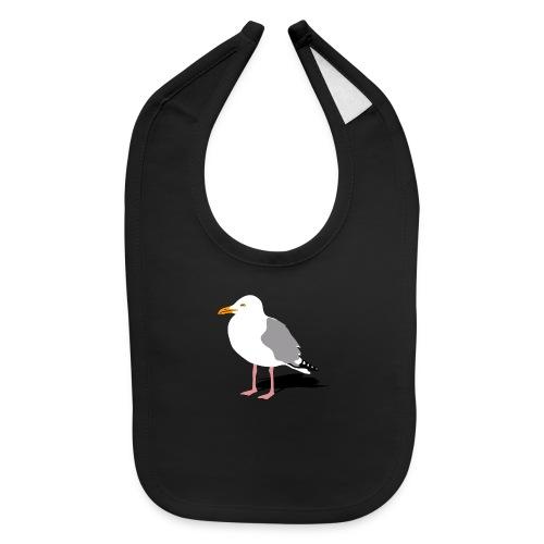 sea gull seagull harbour bird beach sailing - Baby Bib