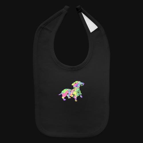 dachshund silhouette splatter - Baby Bib