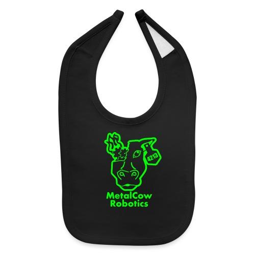 MetalCowLogo GreenOutline - Baby Bib