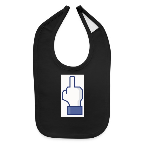 facebook middle finger di - Baby Bib
