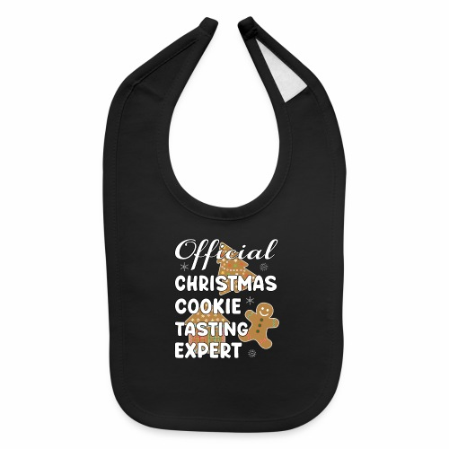 Funny Official Christmas Cookie Tasting Expert. - Baby Bib