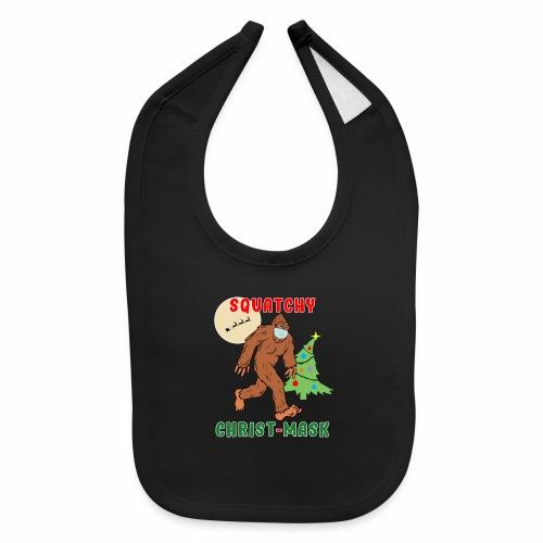 Bigfoot Squatchy Christmas Mask Social Distance. - Baby Bib