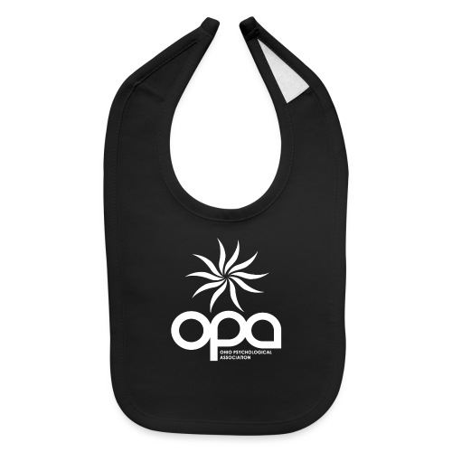 Short Sleeve T-Shirt with small all white OPA logo - Baby Bib