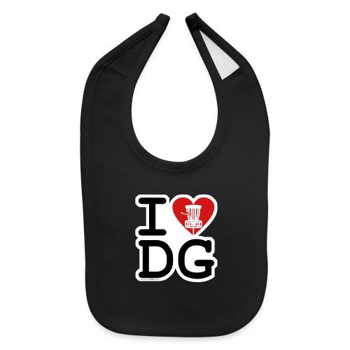 I Love (Heart) Disc Golf Shirt & Accessories - Baby Bib