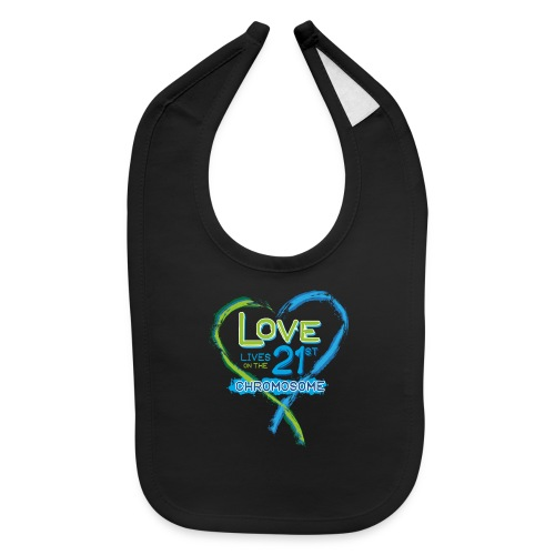 Down Syndrome Love (Blue) - Baby Bib