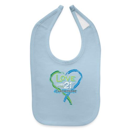 Down Syndrome Love (Blue/White) - Baby Bib