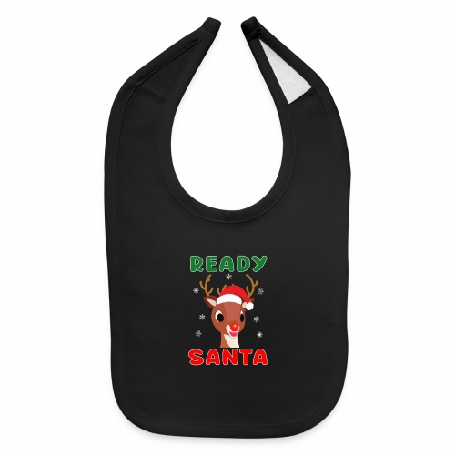 Rudolph Red Nose Reindeer Christmas Snowflakes. - Baby Bib