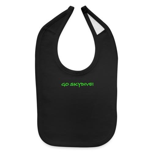 Go Skydive T-shirt/Book Skydive - Baby Bib