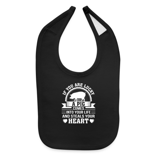 Mini Pig Comes Your Life Steals Heart - Baby Bib
