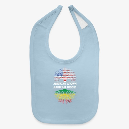 American Grown With African Roots T-Shirt - Baby Bib