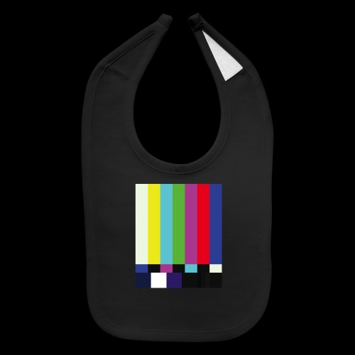 This is a TV Test | Retro Television Broadcast - Baby Bib