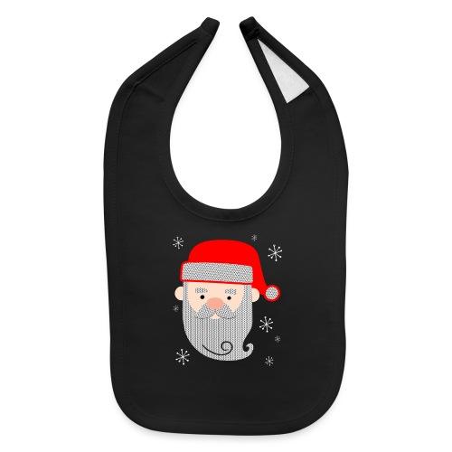 Santa Claus Texture - Baby Bib