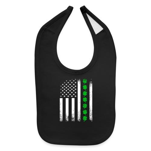 Vintage US Shamrock Flag - Baby Bib