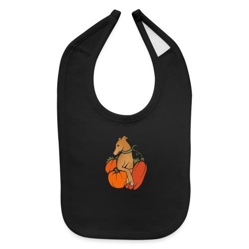 halloween harvest Greyhound - Baby Bib