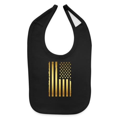 Golden american flag - Baby Bib