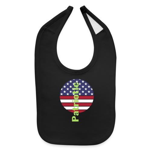 Amerincan patriotic flag - Baby Bib